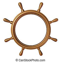 Ship Wheel Blank - Ship wheel with a blank editable center ...