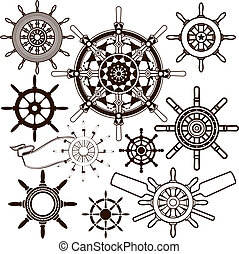 Ship Wheel Collection - Clip art collection of various types...