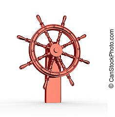 Ship wheel  - Ship wheel. ( helm ). 3d render