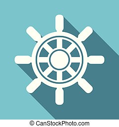 Ship wheel vector illustration
