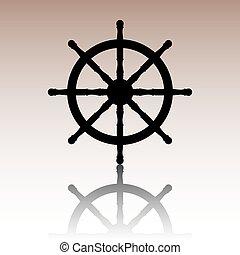 Ship wheel. Vector illustration