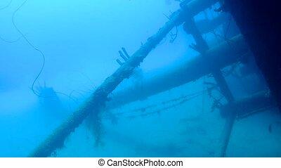 ship wreck Hilma Hooker Bonaire island caribbean sea underwater 1080P video