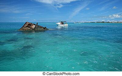 Ship Wreck in a Tropical Sea 4