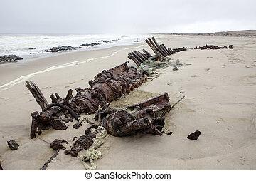 Ship wreck, Namibia