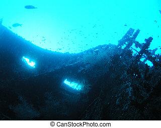 Ship wreck in Maldives