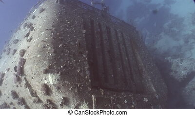 Ship wreck Salem Express underwater in the Red Sea in Egypt....