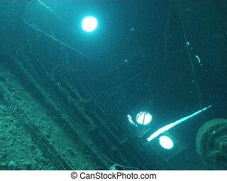 ship wreck  - underwater video