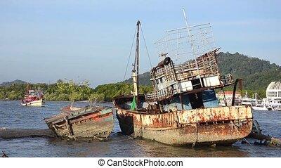 ship wreck - relic in sea