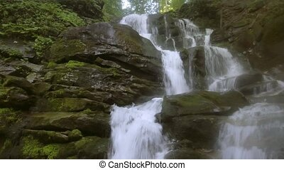 Shipot waterfall in the Carpathians at the summer