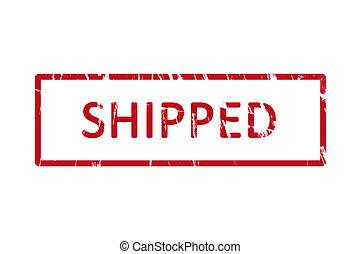 shipped, ゴム製 スタンプ