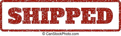 Shipped Rubber Stamp - Dark Red rubber seal stamp with...
