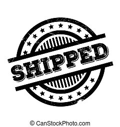 Shipped rubber stamp. Grunge design with dust scratches....