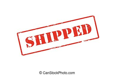 Shipped - Rubber stamp with word shipped inside, vector...