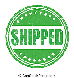 Shipped stamp - Shipped grunge rubber stamp on white, vector...