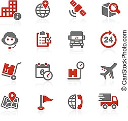 Shipping a Tracking / Redico Series - Vector icons for your...