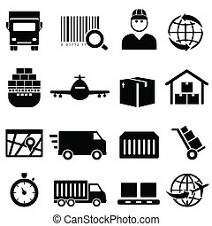 Shipping and cargo icons - Shipping and cargo icon set