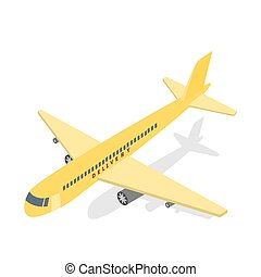 Shipping and global delivery by plane illustration -...
