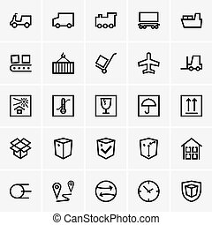 Shipping and Logistics - Set of Shipping and Logistics icons