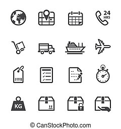 Shipping and Logistics Icons - Shipping Icons and Logistics...