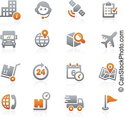 Shipping and Tracking Graphite - Icons for your digital or...