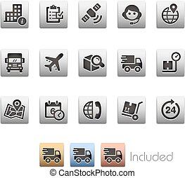 Shipping and Tracking Icons - Metalbox Series