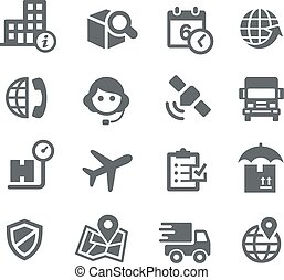 Shipping and Tracking Icons