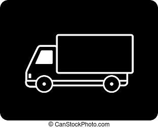 shipping black truck