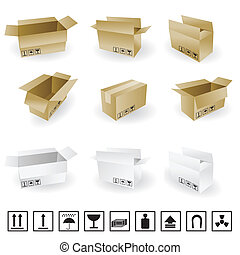 shipping box vector and Box Icons
