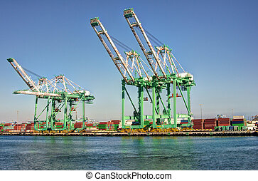 Shipping Cargo Crane Port of Los Angeles - Shipping cargo...