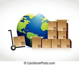 shipping concept illustration design
