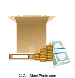 shipping costs concept illustration design