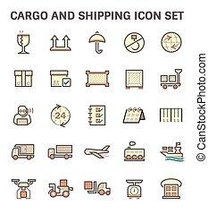 Shipping Icon Set - Cargo and shipping vector icon set.