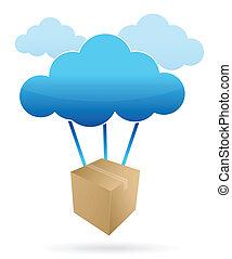 shipping illustration design