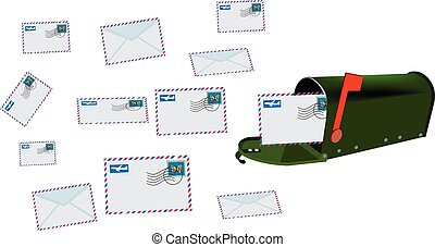 shipping letters stamped by air