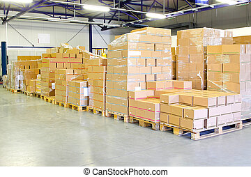 Shipping package - Big pile of box package in warehouse