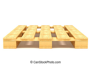 Shipping pallet isolated on white background