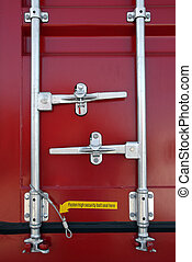 Shipping Security - Locking mechanism on a shipping...