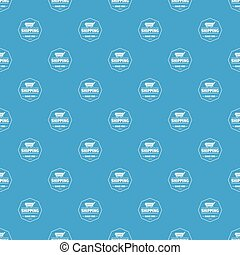 Shipping service pattern vector seamless blue
