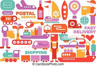 Shipping Service vector illustration