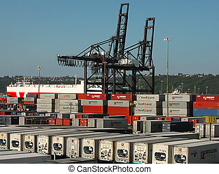 Shipping Terminal - A photograph of a shipping terminal...