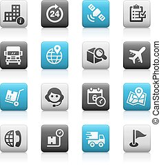 Shipping & Tracking - Matte Series - icons for your web, ...