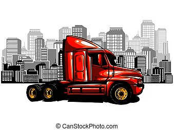 Shipping transport, delivery. Land, water and air types of transportation.