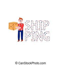 Shipping word illustration