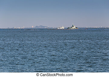 Ships and marine coastal areas in sriracha city. - Ships and...