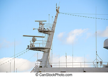 Ships antenna and navigation system in a sky
