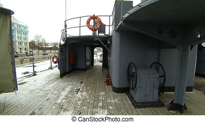 Ship's deck of the cruiser Aurora