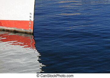 ships depth gauge  - Numbers of ships depth gauge blue sea
