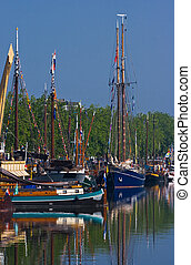 Ships in harbour-yearly festival