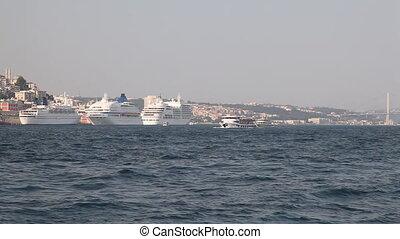 Ships in the Golden Horn Bay