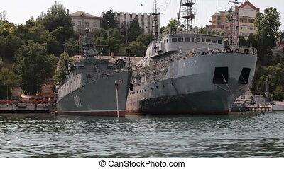 ships in the harbor of Sebastopol